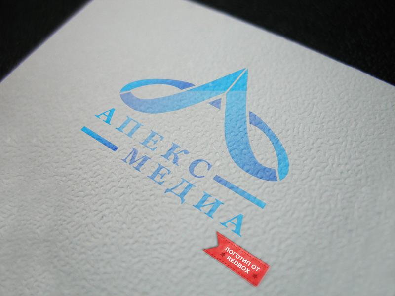 Логотип для студии дизайна Апекс Медиа